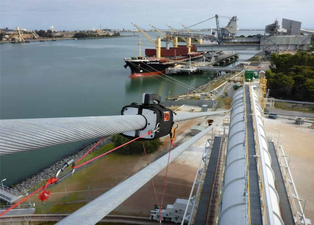 Shiploader Wire Rope Inspection